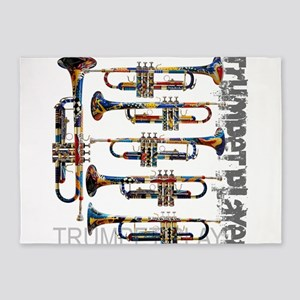 Trumpet Player Art Design by Juleez 5'x7'Area Rug