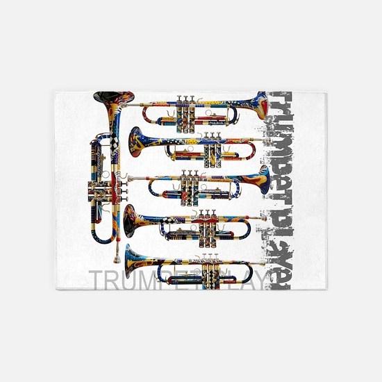 Trumpet Player Art Design by Juleez 5'x7'Area Rug