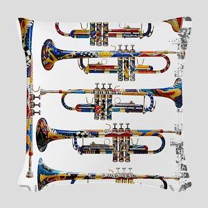 Trumpet Player Art Design by Juleez Woven Throw Pi