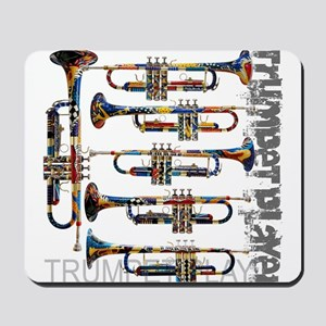 Trumpet Player Art Design by Juleez Mousepad
