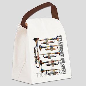 Trumpet Player Art Design by Juleez Canvas Lunch B