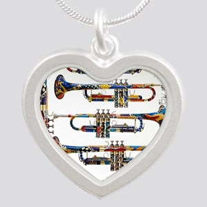 Trumpet Player Art Design by Juleez Necklaces