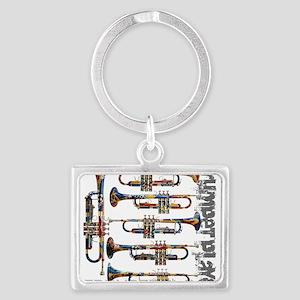 Trumpet Player Art Design by Juleez Keychains