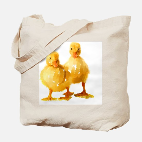 Funny Yellow ducks Tote Bag