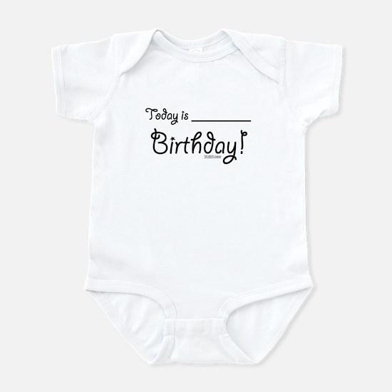 Write On Birthday Autograph Infant Bodysuit