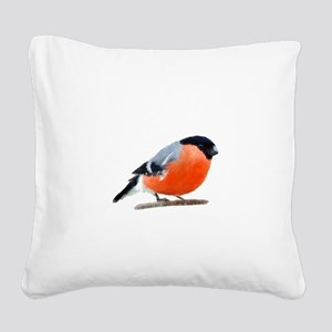 Bullfinch Square Canvas Pillow
