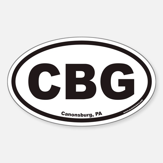 CBG Canonsburg PA Euro Oval Decal