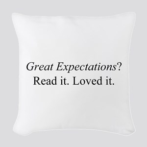 Great Expectations? Woven Throw Pillow
