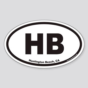 Huntington Beach HB Euro Oval Sticker