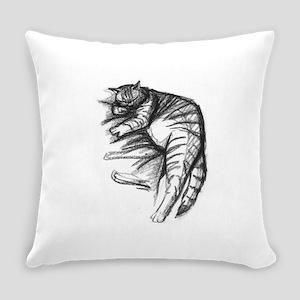 Fat Cat Sleeping Everyday Pillow