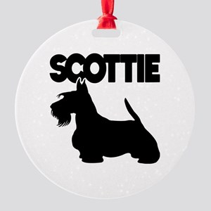 SCOTTIE Round Ornament