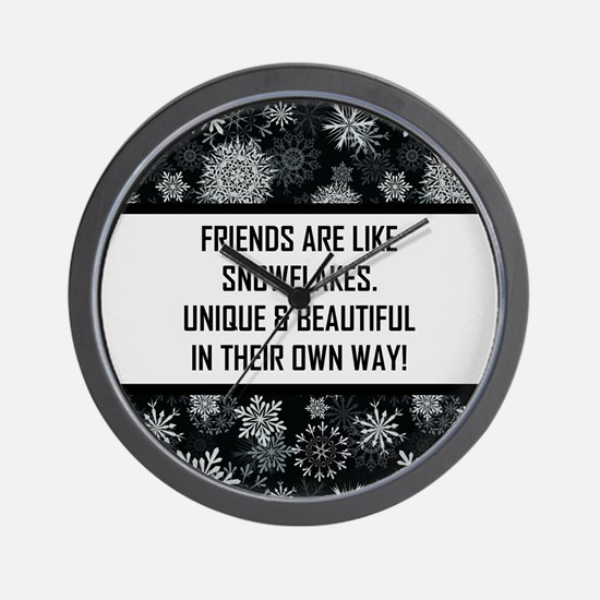 FRIENDS ARE LIKE... Wall Clock