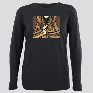 Log Lady All-Over Print Plus Size Long Sleeve Tee