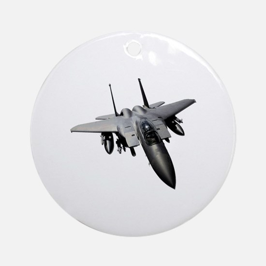 Funny F15 eagle Round Ornament