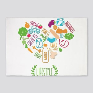healthy lifestyle 5'x7'Area Rug