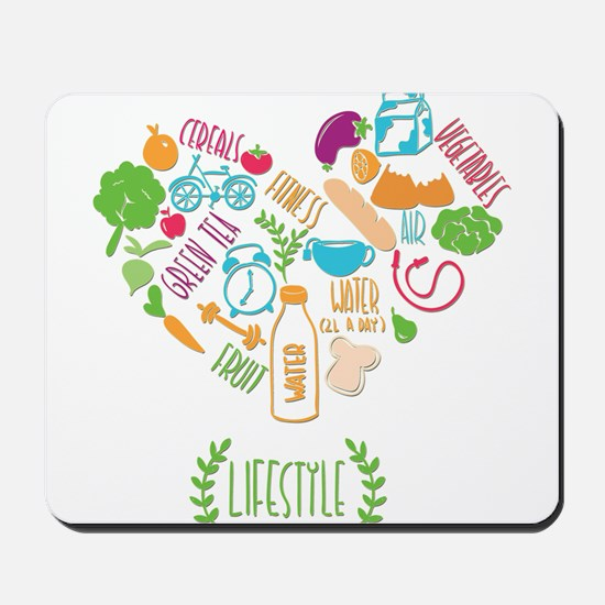 healthy lifestyle Mousepad