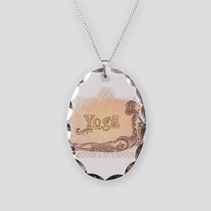 yoga Necklace Oval Charm