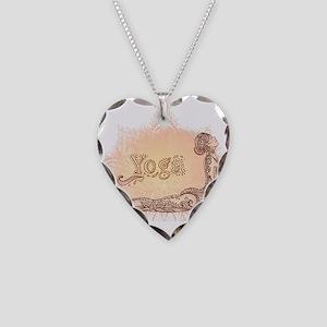 yoga Necklace Heart Charm