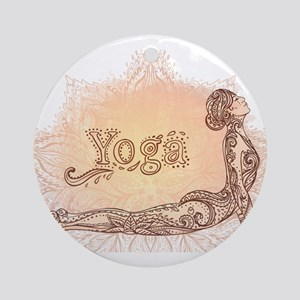 yoga Round Ornament