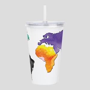 world map Acrylic Double-wall Tumbler