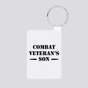 Combat Vet's Son Aluminum Photo Keychain