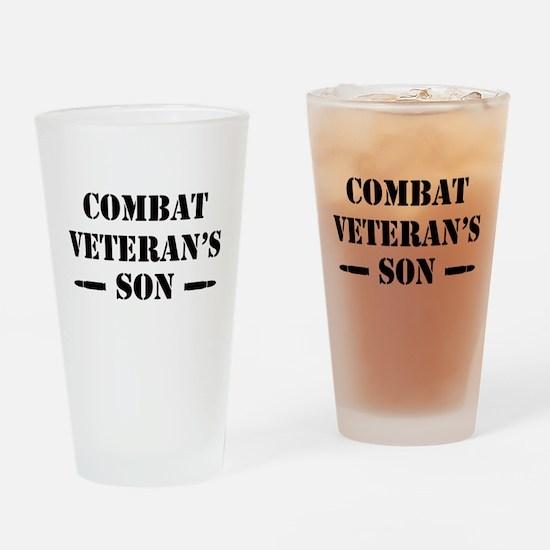 Combat Vet's Son Drinking Glass