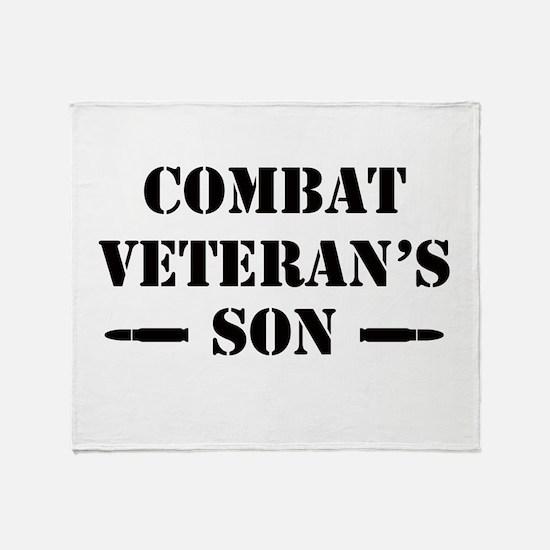 Combat Vet's Son Throw Blanket