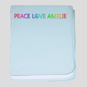 Peace Love Amelie baby blanket