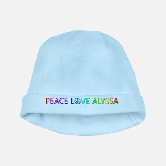Peace Love Alyssa baby hat