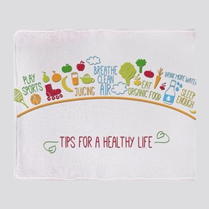 tips for healthy life Throw Blanket