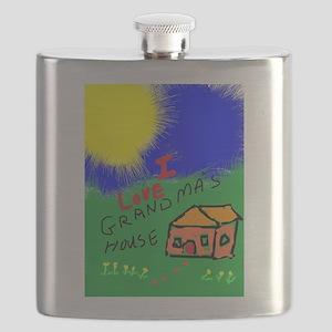I Love Grandma's House Flask