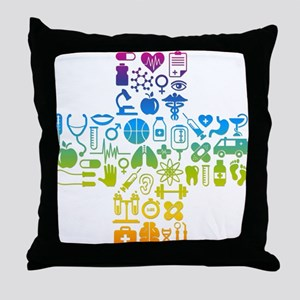 health cross Throw Pillow