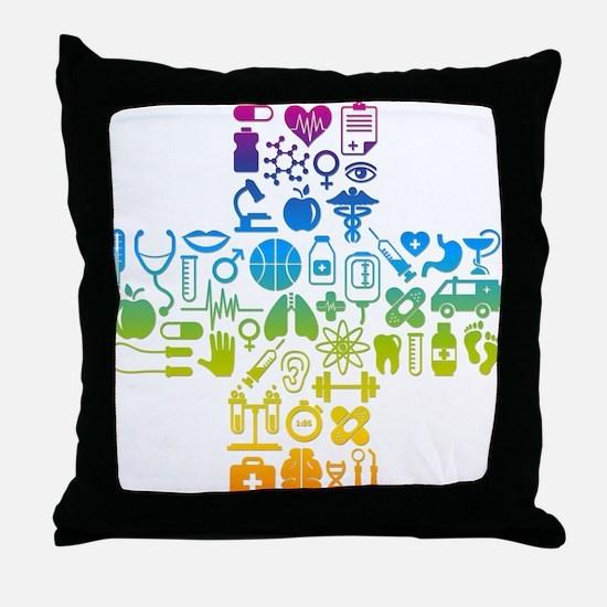 health cross Throw Pillow