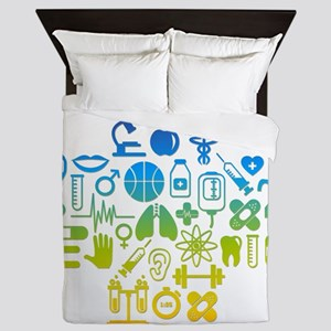 health cross Queen Duvet