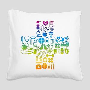health cross Square Canvas Pillow