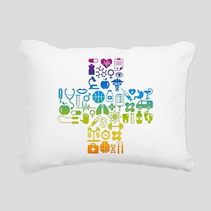 health cross Rectangular Canvas Pillow
