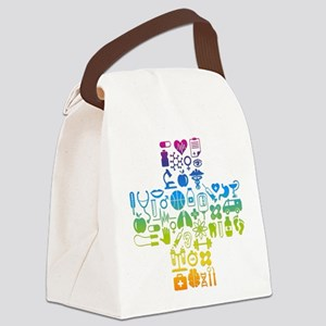health cross Canvas Lunch Bag