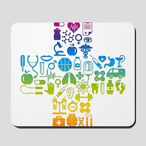 health cross Mousepad