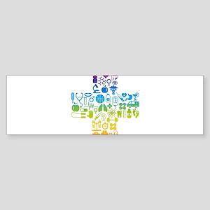 health cross Bumper Sticker