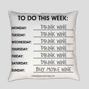 DRINK WINE Everyday Pillow