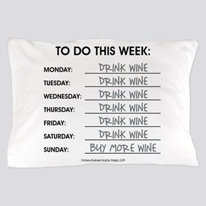 DRINK WINE Pillow Case