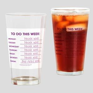 DRINK WINE Drinking Glass