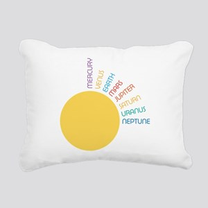 Planets of the Solar Sys Rectangular Canvas Pillow