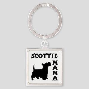 SCOTTIE MAMA Square Keychain