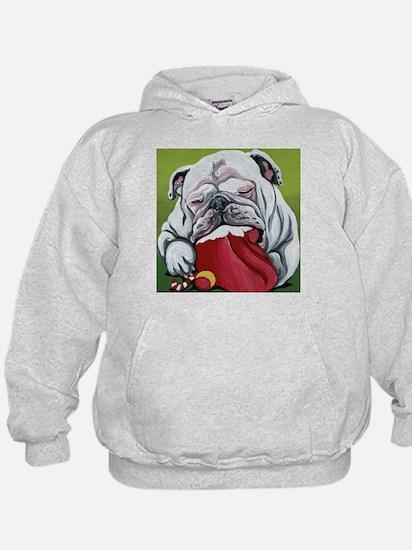 Christmas English Bulldog Hoodie