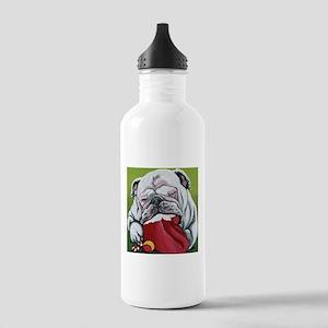 Christmas English Bulldog Water Bottle