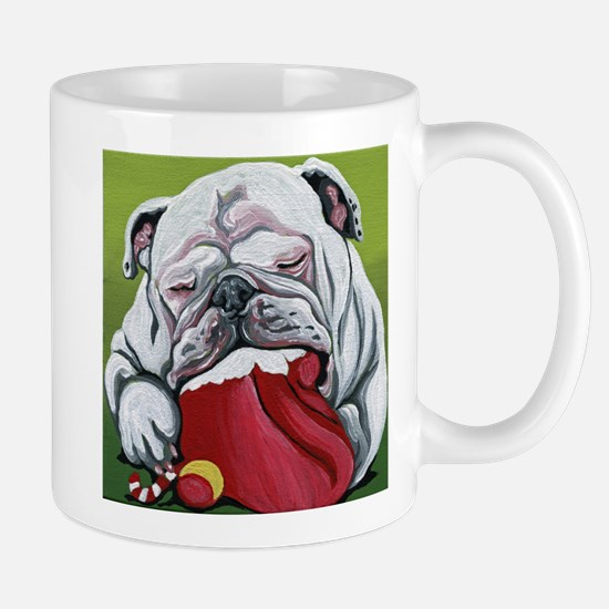 Christmas English Bulldog Mugs