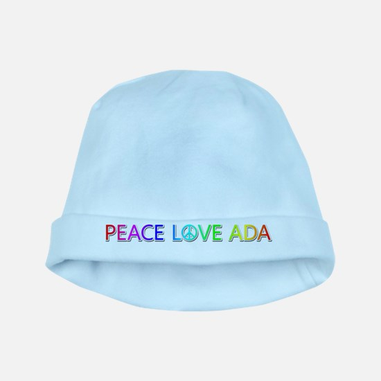 Peace Love Ada baby hat