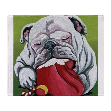 english bulldog blanket christmas english bulldog throw blanket by carlaspetportraits 635