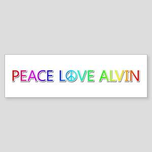 Peace Love Alvin Bumper Sticker